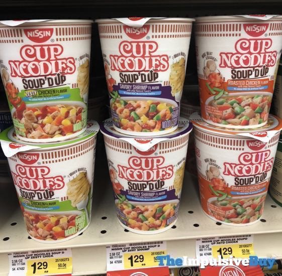 Nissin Cup Noodles Soup d Up  Zesty Chicken Savory Shrimp and Roasted Chicken