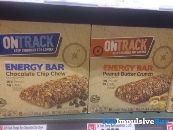 On Track Energy Bars  Chocolate Chip Chew and Peanut Butter Crunch