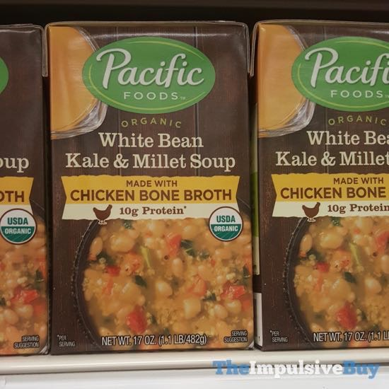 Pacific Foods Organic White Bean Kale Millet Soup Made With Chicken