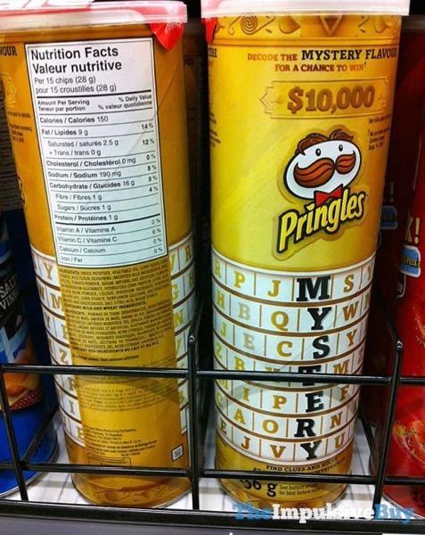 Pringles mystery flavor clues