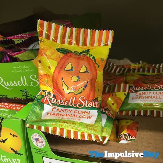 Russell Stover White Fudge Candy Corn Marshmallow Pumpkin Bar