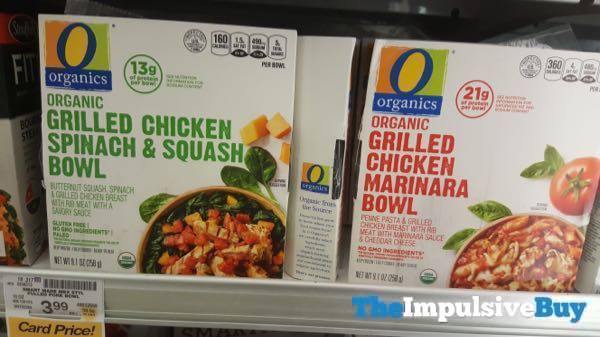 Safeway Organics Grilled Chicken Spinach  Squash and Grilled Chicken Marinara Bowls