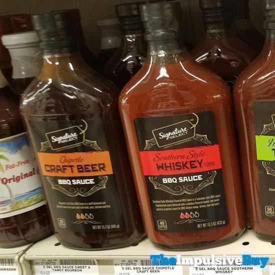 Safeway Signature Select Chipotle Craft Beer Southern Style Whiskey BBQ Sauce