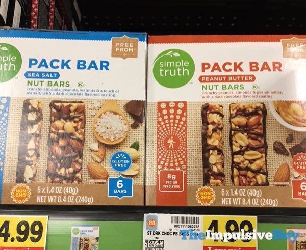 Simple Truth Sea Salt and Peanut Butter Pack Bar Nut Bars