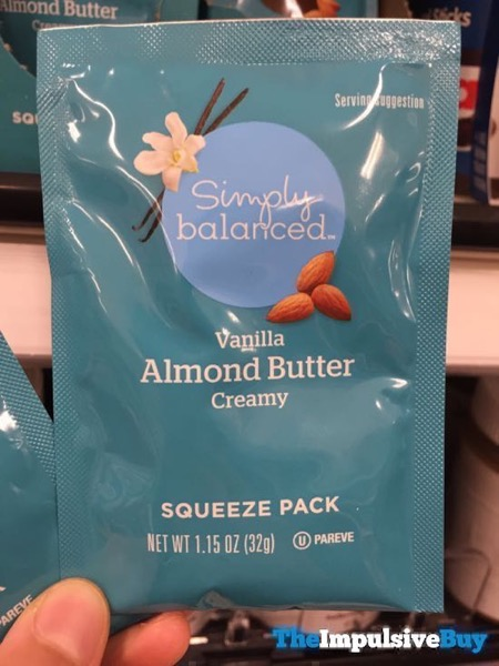 Simply Balanced Vanilla Creamy Almond Butter Squeeze Pack
