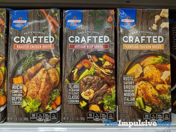 Swanson Crafted Broth  Roasted Chicken Artisan Beef and Parmesan Chicken