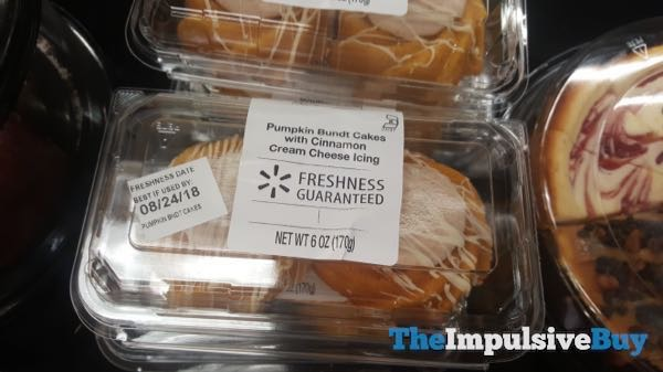 Walmart Pumpkin Bundt Cakes with Cinnamon Cream Cheese Icing