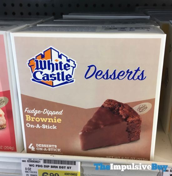 White Castle Desserts Fudge Dipped Brownie On A Stick