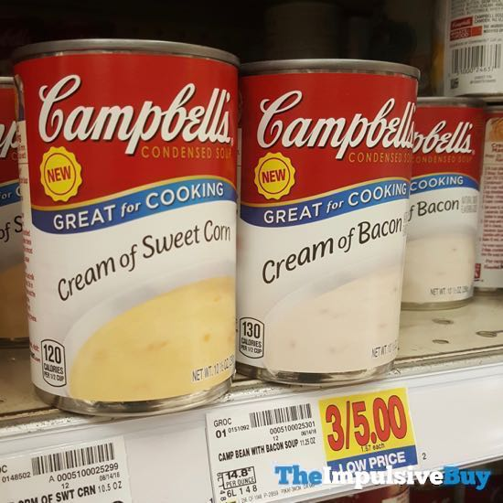 Campbell s Cream of Sweet Corn and Cream of Bacon Condensed Soups