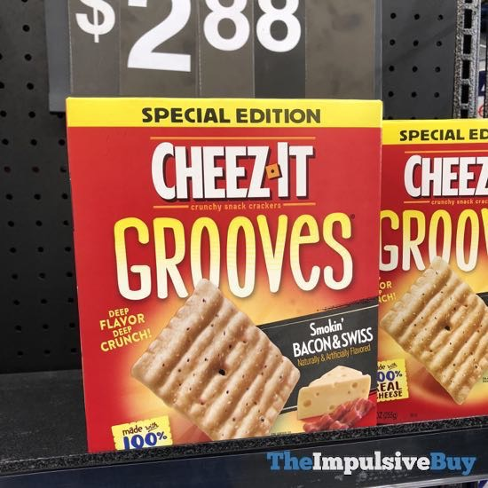 Cheez It Grooves Special Edition Smokin Bacon  Swiss