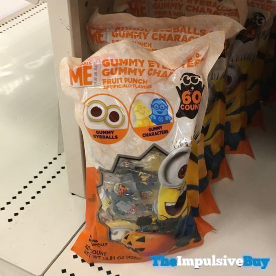Despicable Me Gummy Eyeballs and Gummy Characters Fruit Punch