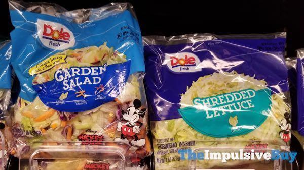 Dole Fresh Disney Mickey Mouse Garden Salad and Shredded Lettuce