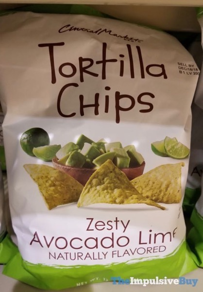 H E B Central Market Zesty Avocado Lime Tortilla Chips