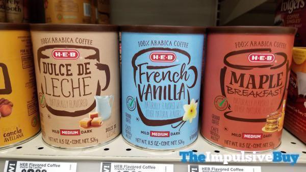 H E B Dulce de Leche French Vanilla and Maple Breakfast Flavored Coffees