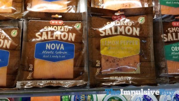 H E B Smoked Salmon  Nova and Lemon Pepper