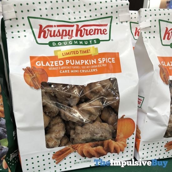 Krispy Kreme Limited Time Glazed Pumpkin Spice Mini Crullers
