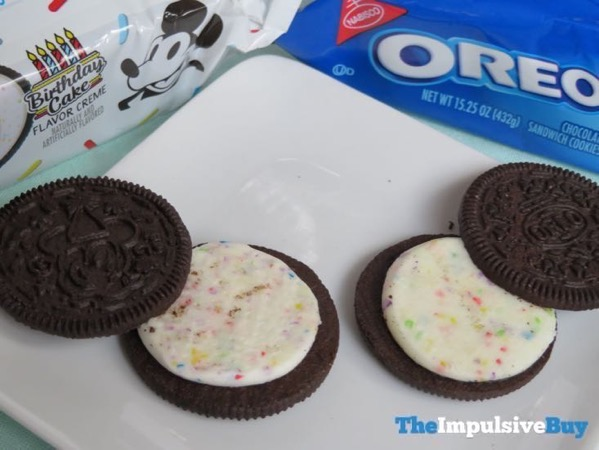 Limited Edition Celebrate Mickey Birthday Cake Oreo Cookies 3