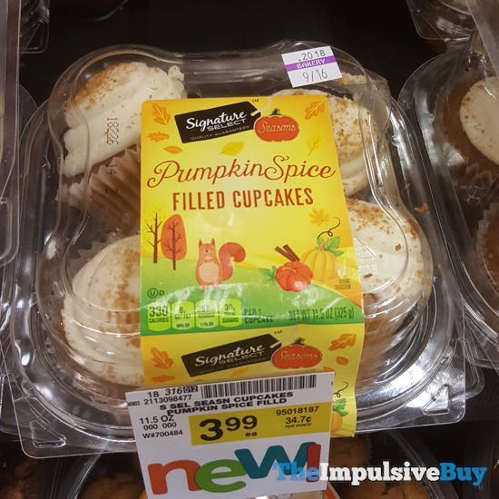 Safeway Signature Select Pumpkin Spice Filled Cupcakes
