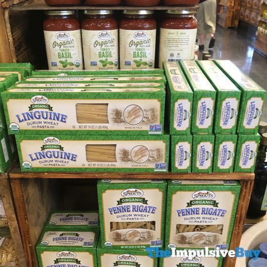 Sprouts Organic Durum Wheat Pasta  Linguine and Penne Rigate