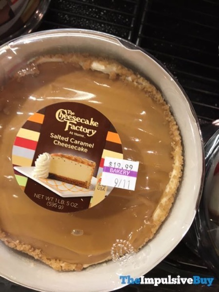 The Cheesecake Factory at Home Salted Caramel Cheesecake