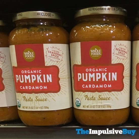Whole Foods Organic Pumpkin Cardamom Pasta Sauce