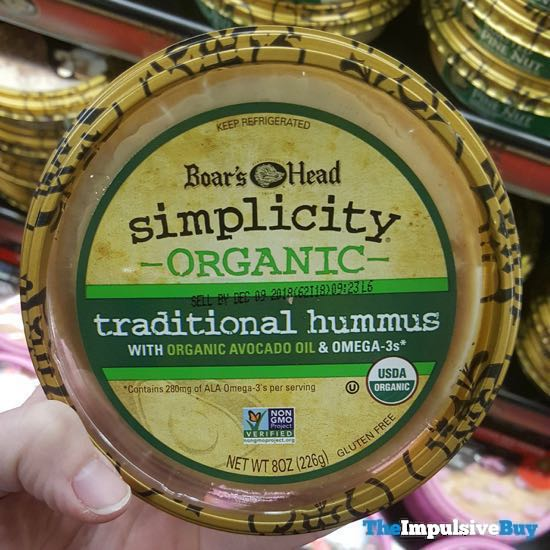 Boar s Head Simplicity Organic Traditional Hummus