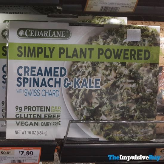 Cedar Lane Simply Plant Powered Creamed Spinach  Kale with Swiss Chard