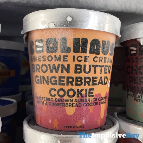 Coolhaus Brown Butter Gingerbread Cookie Ice Cream
