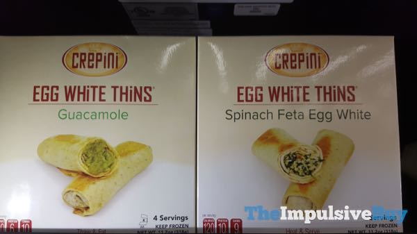 Crepini Guacamole and Spinach Feta Egg White Egg White Thins