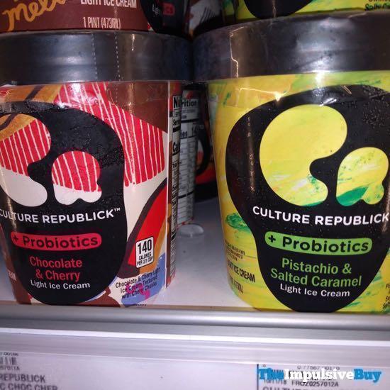 Culture Republick Light Ice Cream  Chocolate  Cherry and Pistachio  Salted Caramel