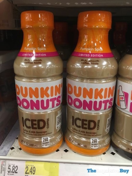 Dunkin Donuts Limited Edition Pumpkin Spice Iced Coffee