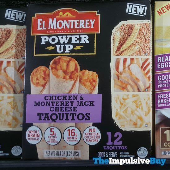El Monterey Power Up Chicken  Monterey Jack Cheese Taquitos