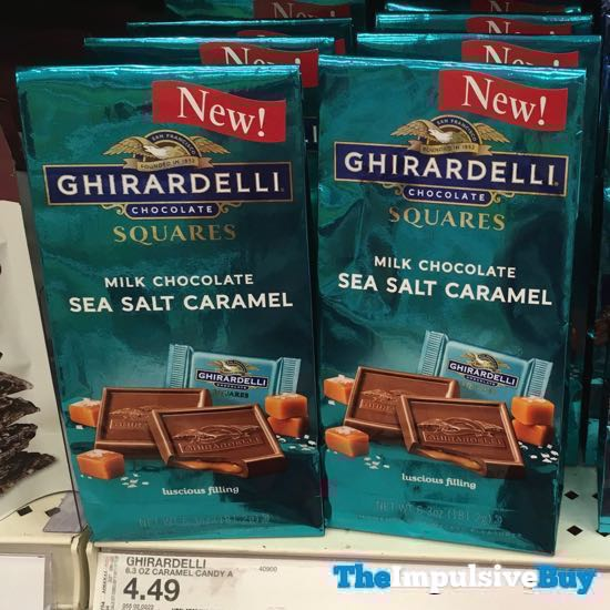Ghirardelli Milk Chocolate Sea Salt Caramel Sqaures