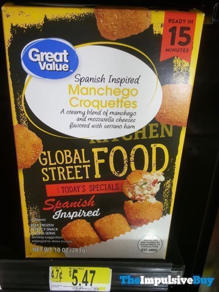 Great Value Global Street Food Spanish Inspired Manchego Croquettes