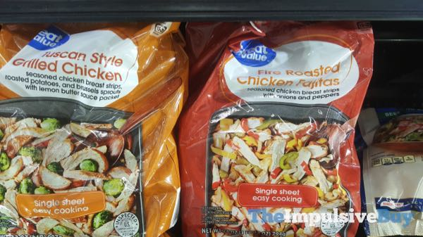 Great Value Tuscan Style Grilled Chicken and Fire Roasted Chicken Fajitas