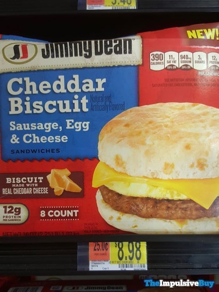 Jimmy Dean Cheddar Biscuit Sausage Egg  Cheese Sandwiches