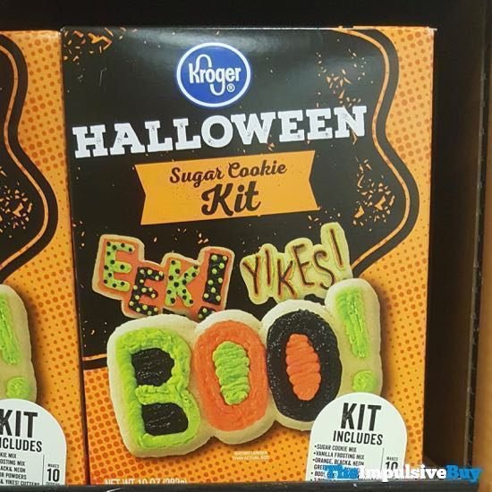 Kroger Halloween Sugar Cookie Kit