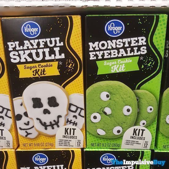 Kroger Playful Skull and Monster Eyeballs Sugar Cookie Kits
