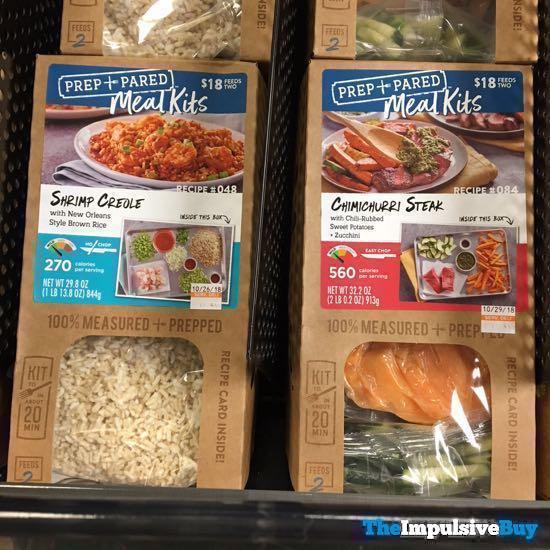 Kroger Prep + Pared Meals Kits  Shrimp Creole and Chimichurri Steak