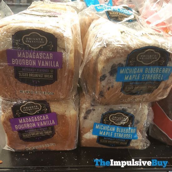 Kroger Private Selection Madagascar Bourbon Vanilla and Michigan Blueberry Maple Streusel Sliced Breakfast Bread