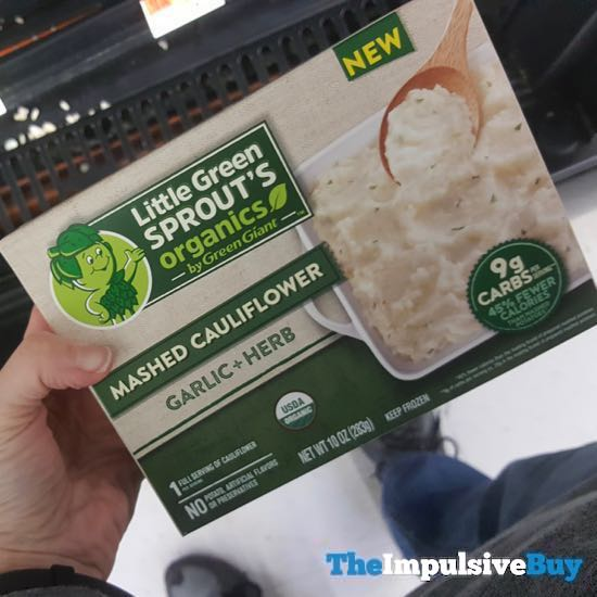 Little Green Sprout s Organics by Green Giant Mashed Caulifllower Garlic + Herb