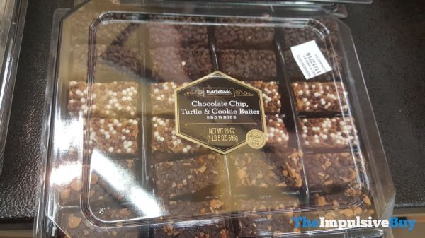 Marketside Chocolate Chip Turtle  Cookie Butter Brownies