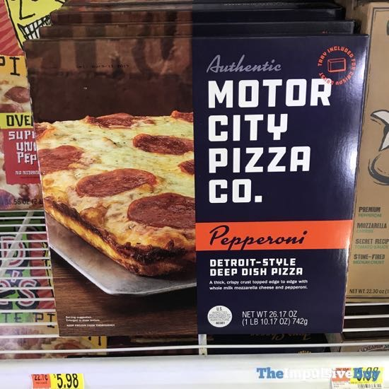 Motor City Pizza Co Pepperoni Detroit Style Deep Dish Pizza