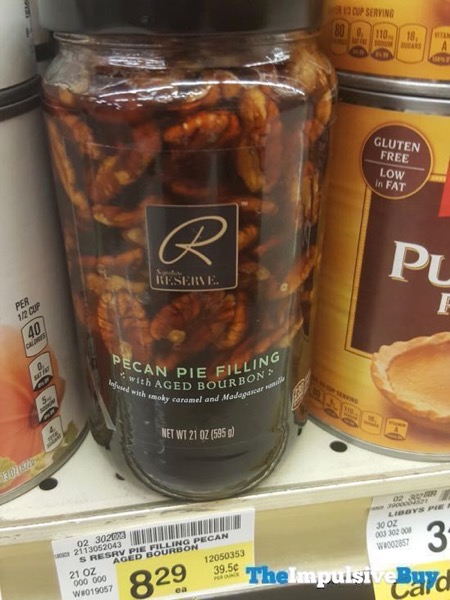 Safeway Signature Reserve Pecan Pie Filling with Aged Bourbon