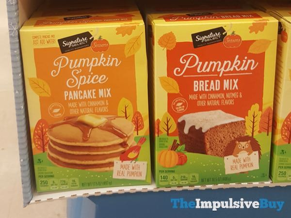 Safeway Signature Select Seasons Pumpkin Spice Pancake Mix and Pumpkin Bread Mix