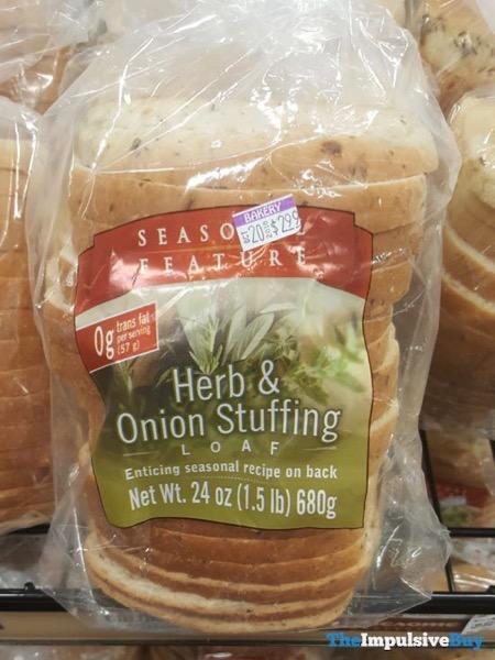 Seasonal Feature Herb  Onion Stuffing Loaf Bread