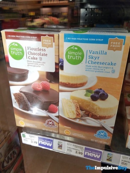 Simple Truth  Kroger Flourless Chocolate Cake and Vanilla Skyr Cheesecake