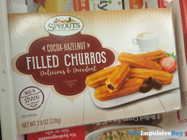 Sprouts Cocoa Hazelnut Filled Churros