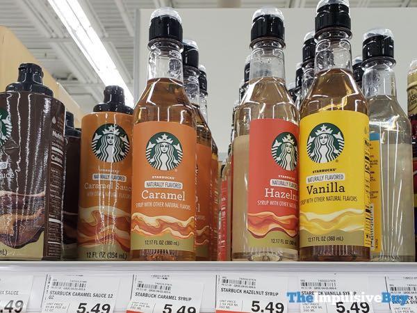 Starbucks Caramel Sauce and Caramel Hazelnut and Vanilla Syrups