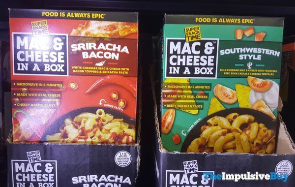 Super Snack Time Mac  Cheese In A Box  Sriracha Bacon and Southwestern Style